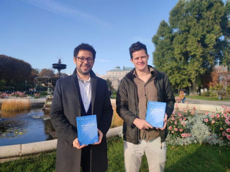 Edgar Federzoni dos Santos and Neil Wilcock, two EMGS alumni